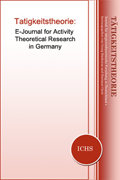 "Journal Cover ""Tätigkeitstheorie: E-Journal for Activity Theoretical Research in Germany"""